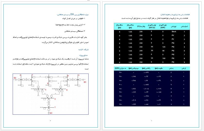 بررسی وضعیت شبکه در صورت اتصال منابع تولید پراکنده DG conection با شبیه سازی شبکه در DigSilent