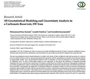 مقالات مهندسی نفت - اکتشاف (روش زمین آماری جدید )