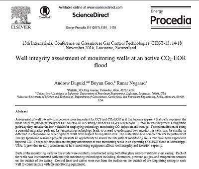 Well Integrity Assessment of Monitoring Wells at an Active CO2-EOR Flood