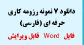 دانلود 7 نمونه رزومه کاری حرفه ای فارسی