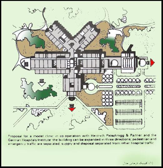 پروژه طرح مرکز بهداشتی و درمانی شهری طراحی بیمارستان