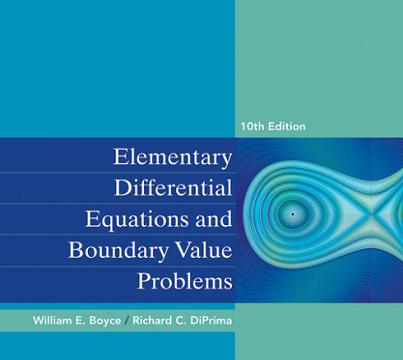 دانلود حل تمرین معادلات دیفرانسیل مقدماتی بویس و دیپریما