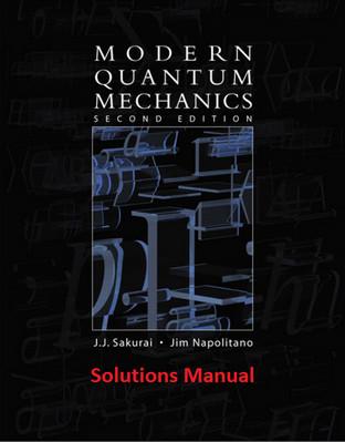 حل تمرین مکانیک کوانتومی مدرن ساکورایی ویرایش 2