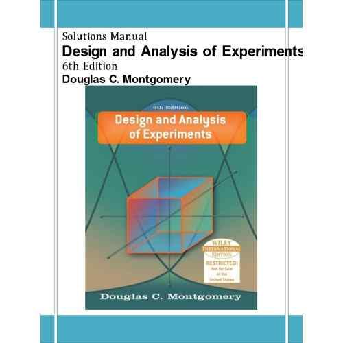 دانلود حل تمرین طراحی و تحلیل آزمایش ها مونتگومری