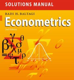 دانلود حل تمرین کتاب اقتصاد سنجی بالتاجی ویرایش دوم