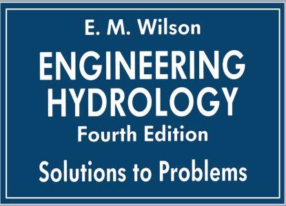 دانلود حل تمرین کتاب مهندسی هیدرولوژی ویلسون ویرایش چهارم