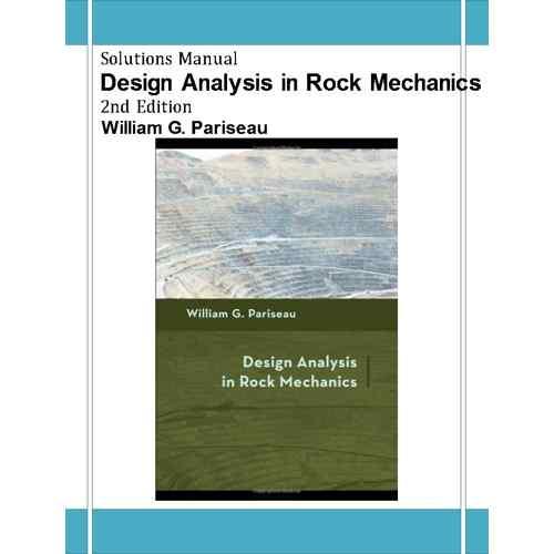 دانلود حل تمرین آنالیز طراحی در مکانیک سنگ پاریسیو