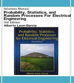 دانلود حل تمرین احتمال آمار و فرآیندهای تصادفی لئون گارسیا