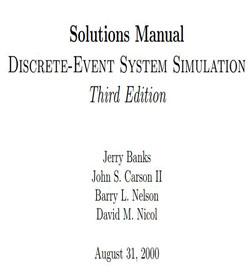 دانلود حل المسائل کتاب شبیه سازی سیستم های گسسته پیشامد