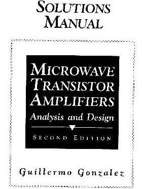 دانلود حل المسائل تقویت کننده های مایکروویو ترانزیستوری گونزالز