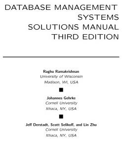 دانلود حل المسائل کتاب سیستم های مدیریت پایگاه داده رامک نیشانگ