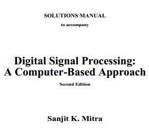 دانلود حل تمرین پردازش سیگنال های دیجیتال میترا