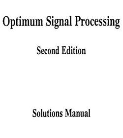 دانلود حل المسائل مقدمه ای بر پردازش بهینه سیگنال ها اورفانیدیس