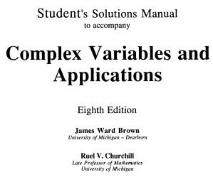 دانلود حل المسائل متغیرهای مختلط به همراه کاربرد آن ها چرچیل