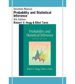 دانلود حل المسائل احتمال و استنتاج آماری رابرت هاگ Hogg