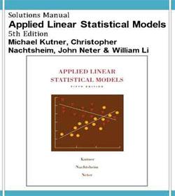 دانلود حل المسائل مدل های آماری خطی کاربردی