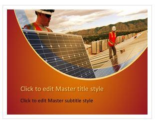 دانلود قالب پاورپوینت طرح سلول های خورشیدی