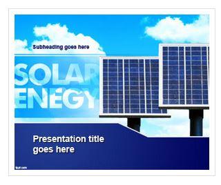 دانلود قالب پاورپوینت طرح انرژی خورشیدی