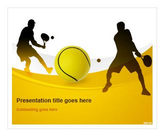 دانلود قالب پاورپوینت طرح تنیس سری 2