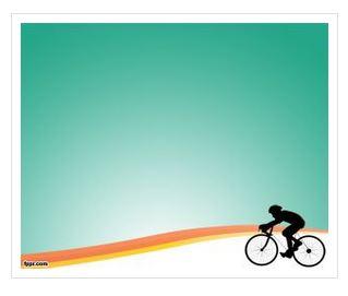 دانلود قالب پاورپوینت طرح دوچرخه سواری
