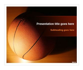 دانلود قالب پاورپوینت طرح بسکتبال
