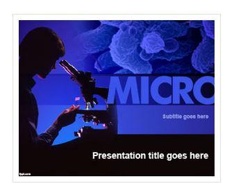 دانلود قالب پاورپوینت طرح میکروبیولوژی