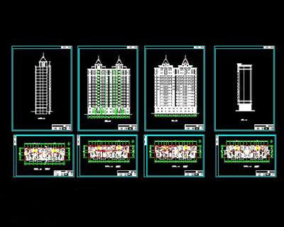 دانلود پلان اتوکد مجتمع مسکونی بلند