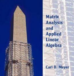 دانلود حل المسائل کتاب آنالیز ماتریس و کاربرد جبر خطی مایر