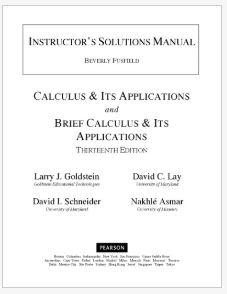 دانلود حل المسائل کتاب معادلات دیفرانسیل لری گلداشتاین