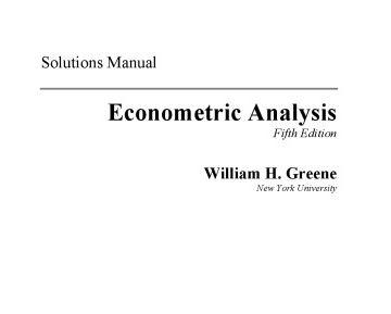 حل المسائل کتاب آنالیز اقتصاد سنجی گرین ویرایش پنجم