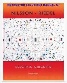 دانلود حلالمسائل کتاب مدارات الکتریکی نیلسون ویرایش دهم