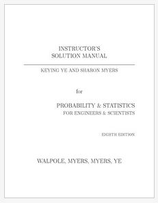 دانلود حل المسائل کتاب آمار و احتمالات رونالد والپل و ریموند مایرز ویرایش هشتم