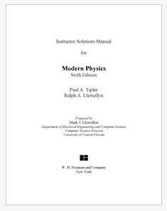 دانلود حل المسائل کتاب فیزیک مدرن تیپلر ویرایش ششم