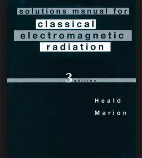 دانلود حل المسائل کتاب تابش های الکترومغناطیسی کلاسیکی هیلد و ماریون