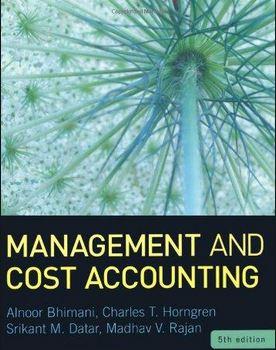 دانلود حل المسائل کتاب مدیریت و حسابداری صنعتی Bhimani