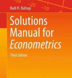 دانلود حل تمرین کتاب اقتصاد سنجی بالتاجی ویرایش دوم و سوم