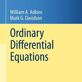 دانلود حل المسائل کتاب معادلات دیفرانسیل معمولی ادکینز William Adkins