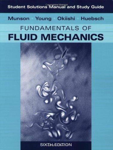 دانلود حل المسائل کتاب مکانیک سیالات بروس مانسون Bruce Munson