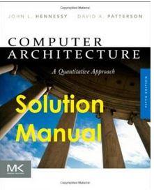 دانلود حل المسائل کتاب معماری کامپیوتری جان هنسی John Hennessy