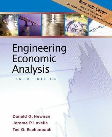 دانلود حل المسائل کتاب آنالیز اقتصاد مهندسی نیونان Donald Newnan