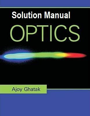 دانلود حل المسائل کتاب نورشناسی اجوی گاتاک AJOY GHATAK