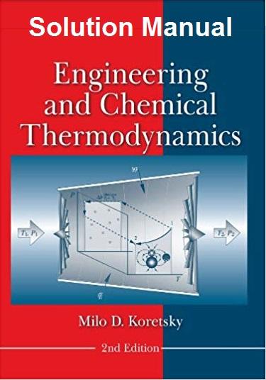 حل المسائل کتاب ترمودینامیک مهندسی و شیمیایی میلو کورتسکی KORETSKY