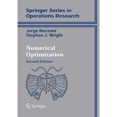 دانلود حل المسائل روش های بهینه سازی عددی خورخه نوسدال Jorge Nocedal