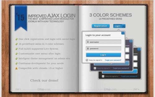 Improved Ajax Login & Register v2.334 - دانلود کامپوننت و ماژول فارسی ورود به سایت و ثبت نام در سایت ایجکس