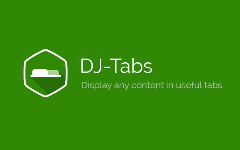 DJ-Tabs V1.3.1 - کامپوننت  نمایش مطالب و ماژول های سایت در قالب تب و آکاردئون