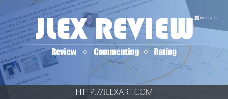 JLex Review V3.4.1 - دانلود کامپوننت نظردهی و امتیازدهی جوملا همراه با افزونه های جانبی