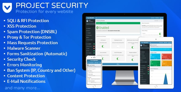 اسکریپت فایروال و آنتی ویروس جامع امنیتی سایت CodeCanyon Project SECURITY