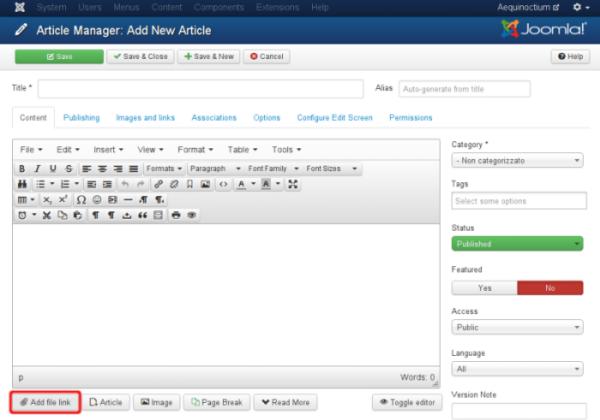 کامپوننت اضافه کردن فایل به مطالب جوملا