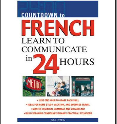 کتاب  شمارش معکوس برای زبان فرانسه-آموزش برقراری ارتباط در 24 ساعت