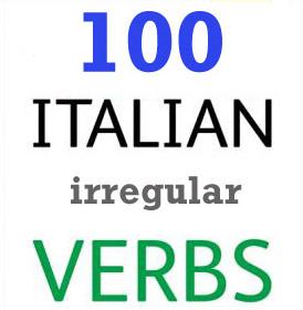 100 فعل بی قاعده ایتالیایی